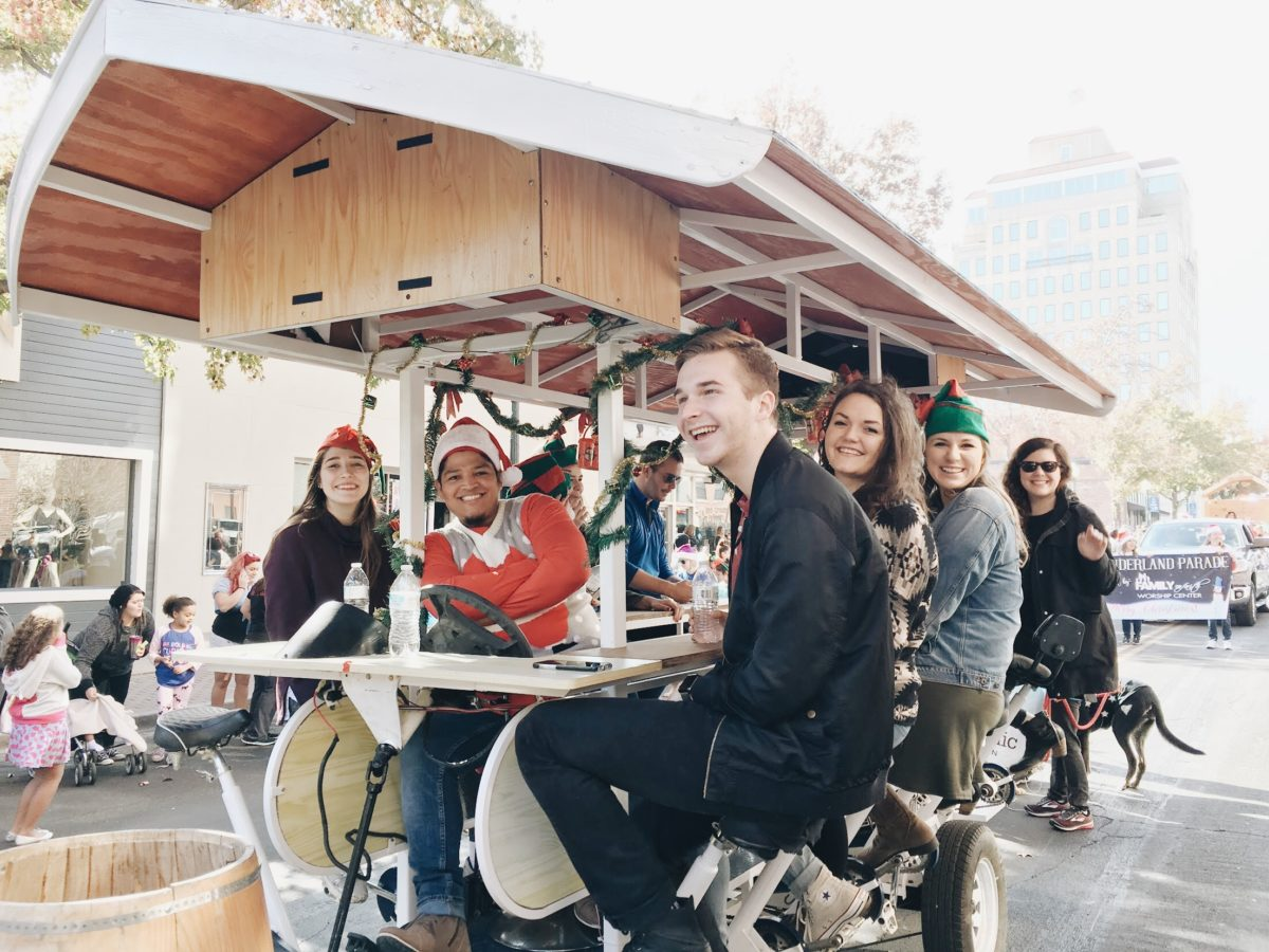 Waco Pedal Tours in the 2017 Waco Wonderland Parade