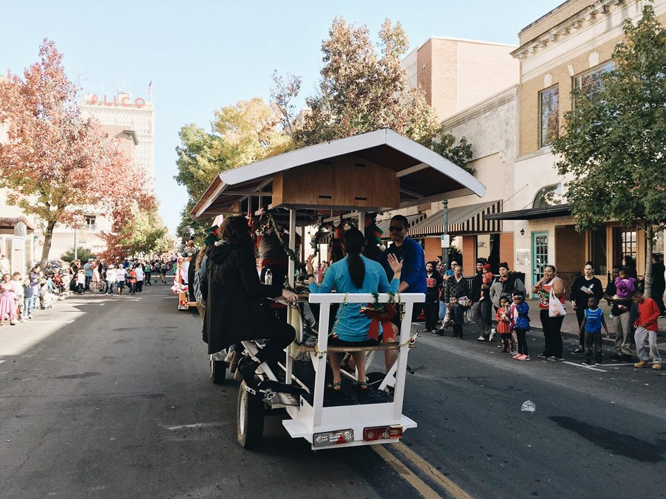 Waco Pedal Tours in the Waco Wonderland Parade