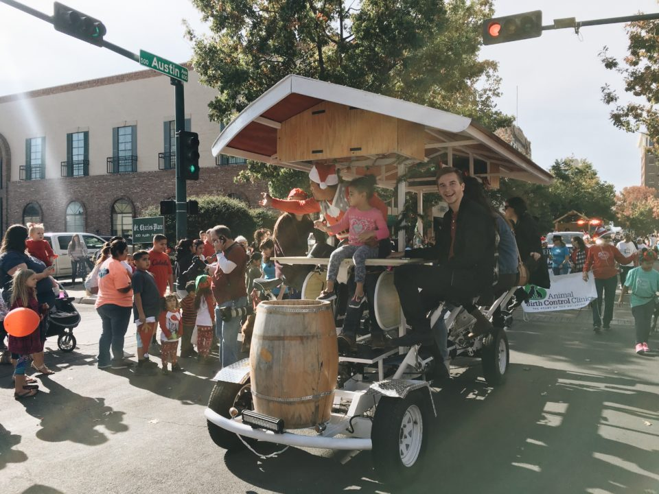 Waco Pedal Tours in downtown Waco