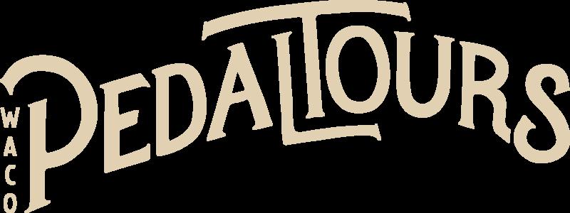 Waco Pedal Tours Logo- Creme